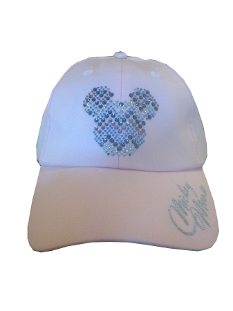 hat baseball cap mickey mouse icon gems pink with ears toddler for adults by neff
