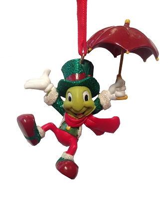Christmas Ornament - Jiminy Cricket with Umbrella