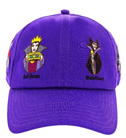 womens disney baseball hats hat cap villain characters purple character caps