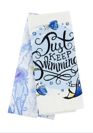 Kitchen Towel Set - Finding Dory - Just Keep Swimming