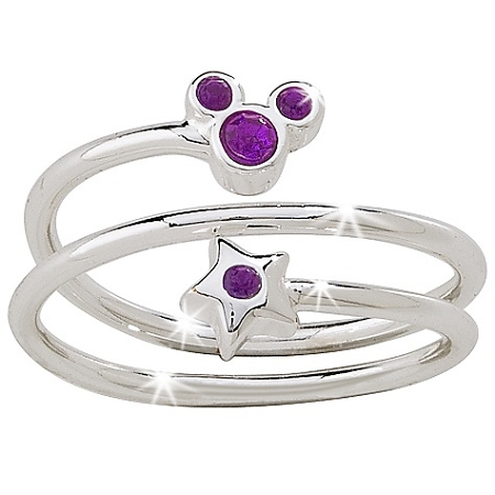 Star And Mickey Mouse Birthstone Ring