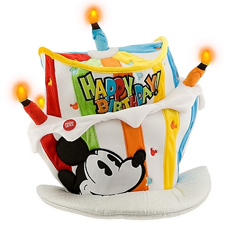 Disney Top Hat Plush LightUp Mickey Mouse Birthday