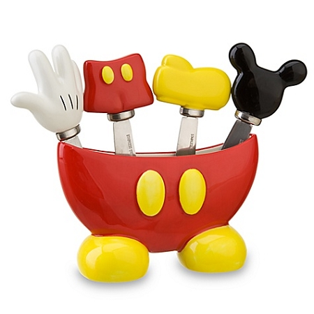 Disney spreader set best of mickey mouse 5 pc for Kitchen set items