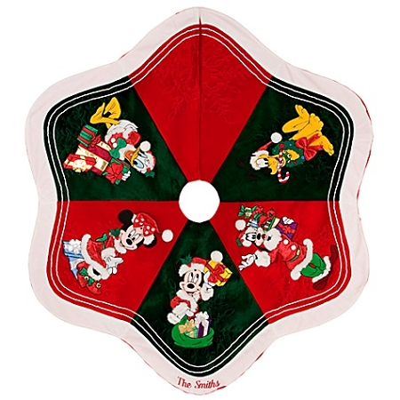 disney christmas tree skirt personalizable santa mickey mouse and friends - Disney Christmas Tree Skirt