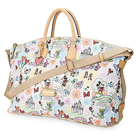 Get away for fun times with this strapping leather luggage by Dooney & Bourke. Mickey's fine fashion tote with colorful Magic Kingdom styling comes to you direct from the Disney .
