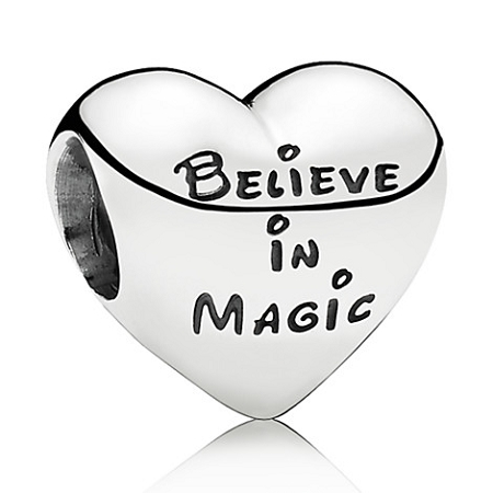 disney pandora charm minnie mickey kiss heart believe in magic. Black Bedroom Furniture Sets. Home Design Ideas