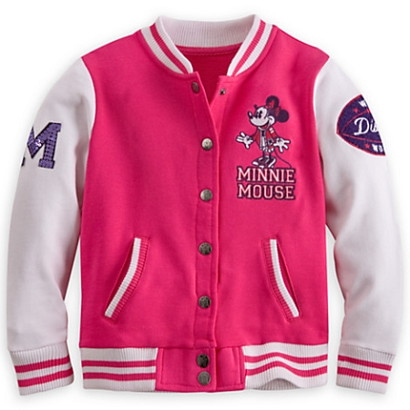 Jacket for Girls - Minnie Mouse Varsity Jacket - Pink