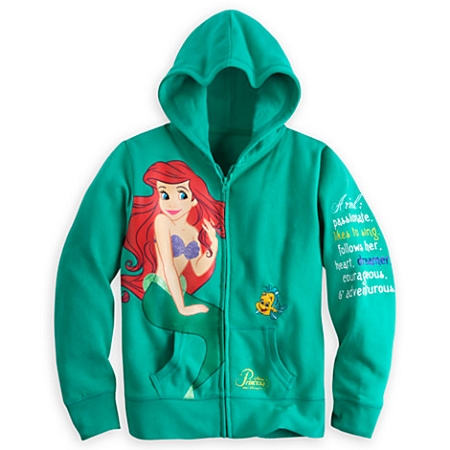 Disney Jacket For Girls Ariel Hoodie Happily Ever After