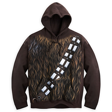 disney hoodie for adults chewbacca costume pullover star wars. Black Bedroom Furniture Sets. Home Design Ideas