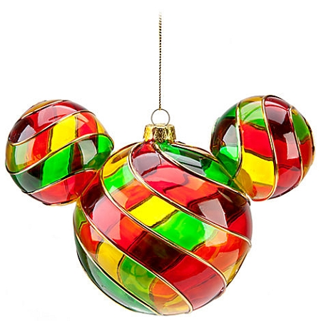 Christmas Ornament - Mickey Mouse Ears - Stained Glass