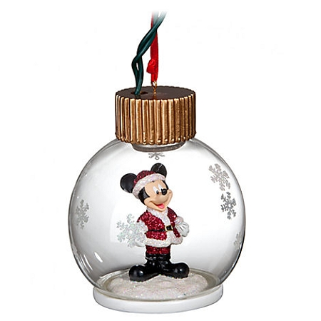 disney christmas ornament light up santa mickey mouse. Black Bedroom Furniture Sets. Home Design Ideas