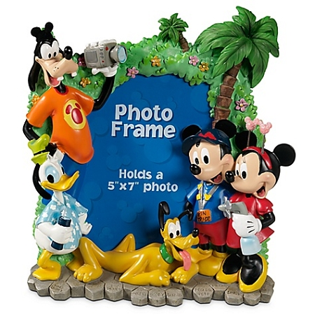 disney photo frame tourist mickey mouse and friends 5 x 7 - Mickey Mouse Photo Frame