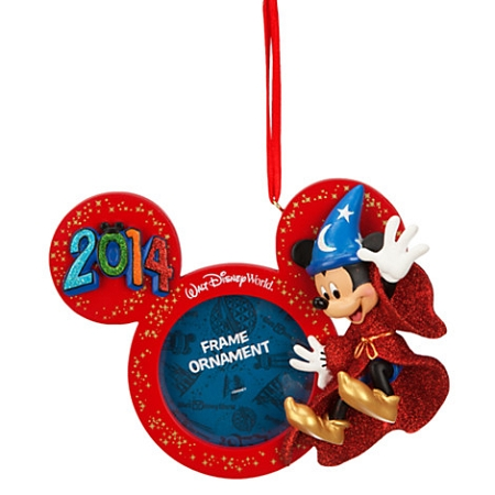 Disney Christmas Frame Ornament - 2014 Sorcerer Mickey Mouse