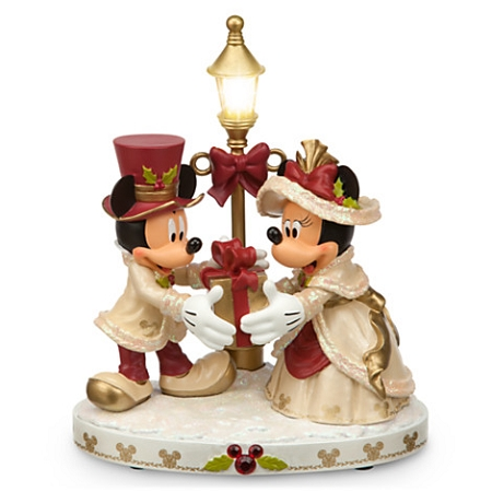 disney christmas figurine mickey minnie mouse light up victorian. Black Bedroom Furniture Sets. Home Design Ideas