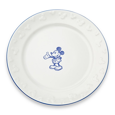 Disney Dinner Plate - Gourmet Mickey Mouse - White/Blue  sc 1 st  Magical Ears Collectibles & Dinner Plate - Gourmet Mickey Mouse - White/Blue