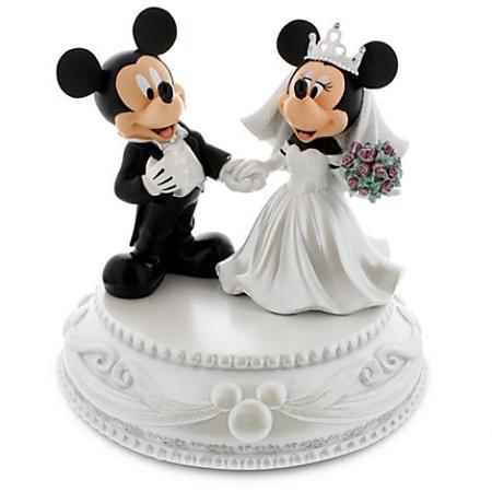 Medium Figure Statue - Mickey and Minnie Mouse Wedding