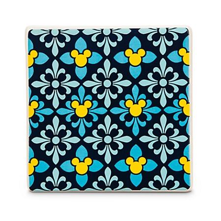 Disney Coaster Tile Mickey Mouse Icon Indigo Diamond