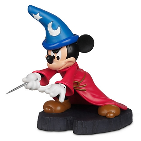 Disney Figurine Statue Sorcerer Mickey Mouse Light Up