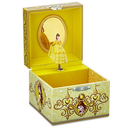 Disney musical jewelry box belle beauty and the beast for Disney beauty and the beast jewelry