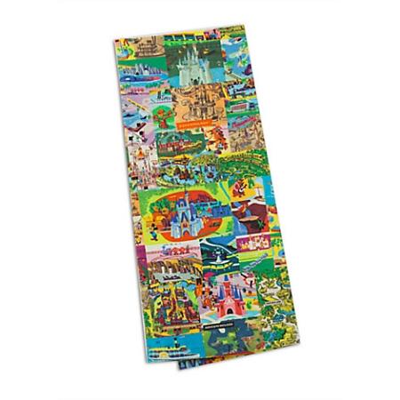 Disney Kitchen Towel Set - Magic Kingdom Map - Set of 2