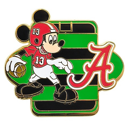 disney football pin ncaa alabama mickey mouse