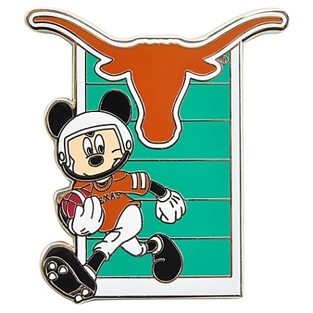 disney football pin ncaa texas mickey mouse