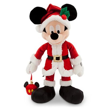 disney christmas plush santa mickey mouse with ornament 16 - Stuffed Santa Claus