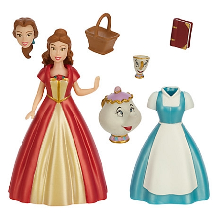 Disney Figurine Fashion Set Beauty And The Beast Belle