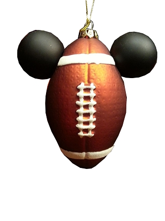 disney christmas ornament mickey mouse ears football