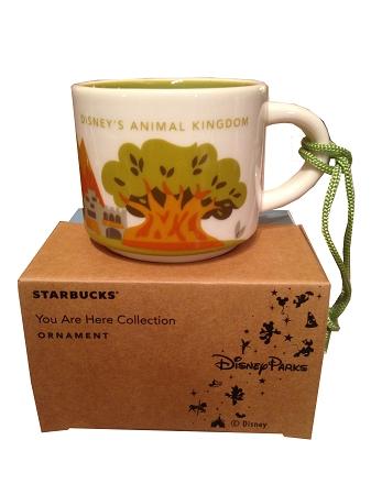 christmas ornament starbucks mug animal kingdom