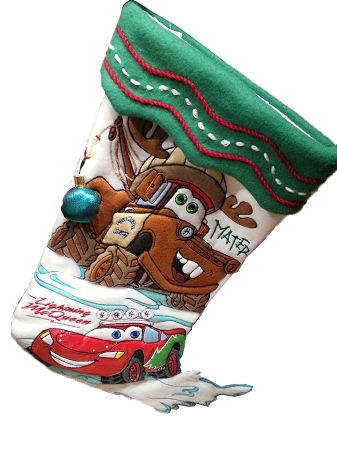 Christmas Stocking - Cars - Lightning McQueen & Mater