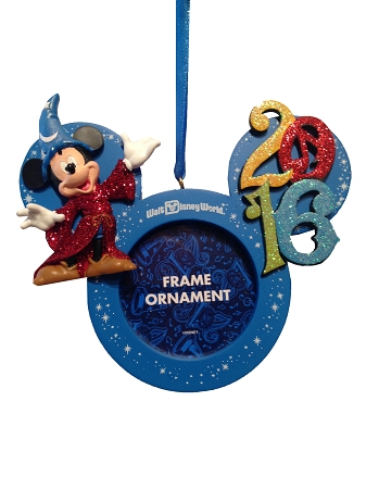 Christmas Frame Ornament  2016 Sorcerer Mickey Mouse