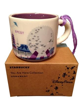 christmas ornament starbucks mug epcot