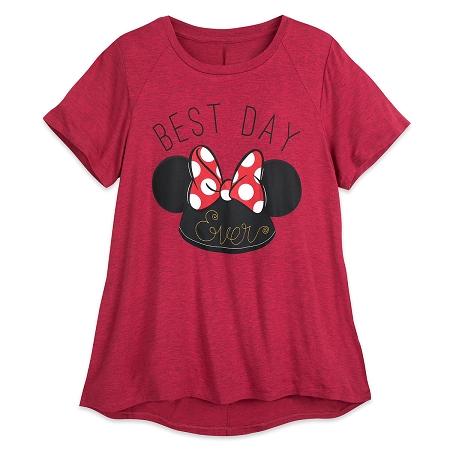 DisneyShirtForWomenMinnieMouseEarHatBestDayEver