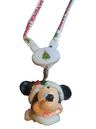 Christmas Necklace - Santa Mickey Mouse Light up