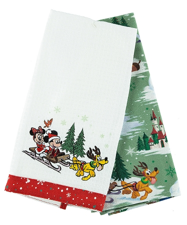Kitchen Towel Set - Holiday Mickey and Friends - Set of 2