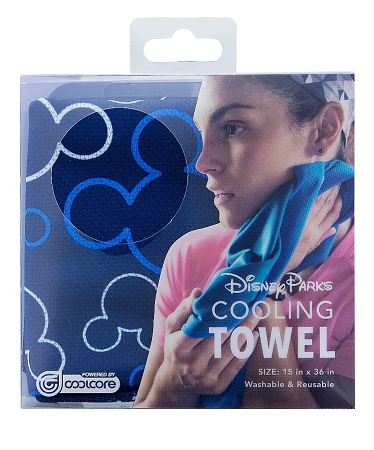 Disney Cooling Towel Mickey Mouse Icon Blue