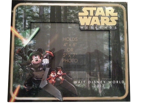 disney photo frame star wars weekend 2013 skywalker mickey