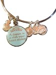 Disney Charm Bracelet - A Dream is a Wish - Alex and Ani - Silver