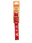Disney Tails Dog Collar - Mickey Mouse & Paw Prints - Red