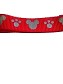 Disney Tails Dog Leash - Mickey Mouse & Paw Prints - Red