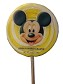 Disney Parks Lollipop - Mickey Mouse Yellow and White Swirl - 4 oz