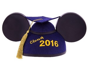 Disney Hat - Graduation Ears Cap - Class of 2016