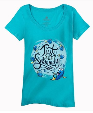 Disney Shirt for Women - Dory - Just Keep Swimming