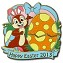 Disney Easter Pin - Happy Easter 2013 - Chip 'n Dale - LE