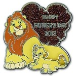 Disney Father's Day Pin - 2013 Simba and Mufasa - Lion King LE