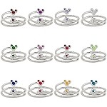 Disney Birthstone Ring - Star and Mickey Mouse - Silver