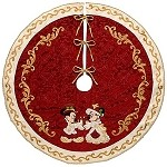 Disney Christmas Tree Skirt - Victorian Minnie and Mickey Mouse Holiday