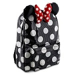 Disney Backpack Bag - Minnie Mouse - Sequined with Ears and Bow