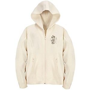 Disney Hoodie for WOMEN - Walt Disney World Minnie Mouse Fleece - White